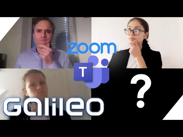Kann mich mein Chef zwingen die Kamera einzuschalten? Tipps für Video-Meetings! | Galileo