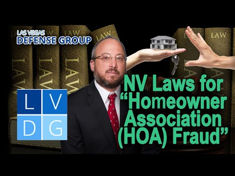 """What if I'm busted for """"homeowners association fraud"""" in Nevada?"""