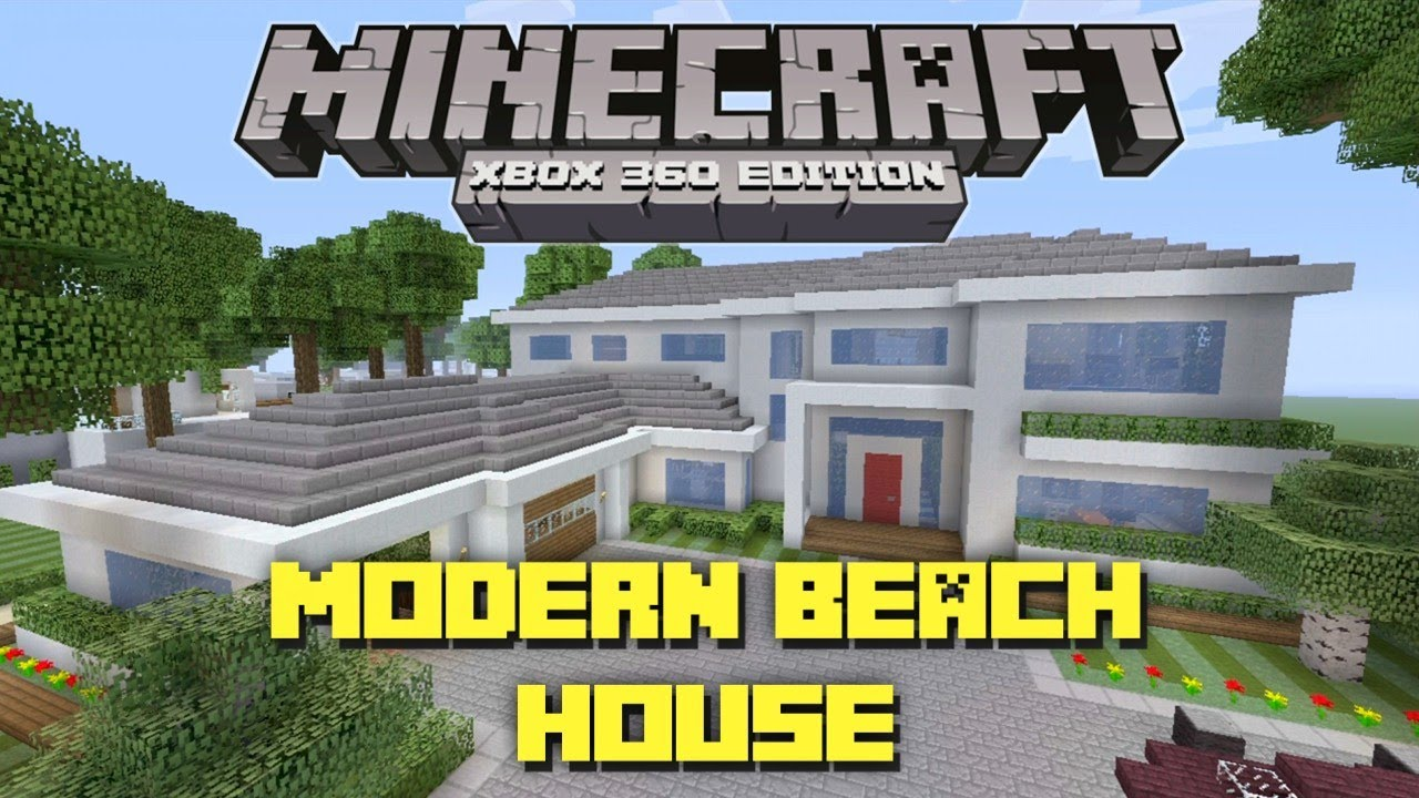 Minecraft Xbox 360: Modern Beach House! Miami Style! (House Tours of ...