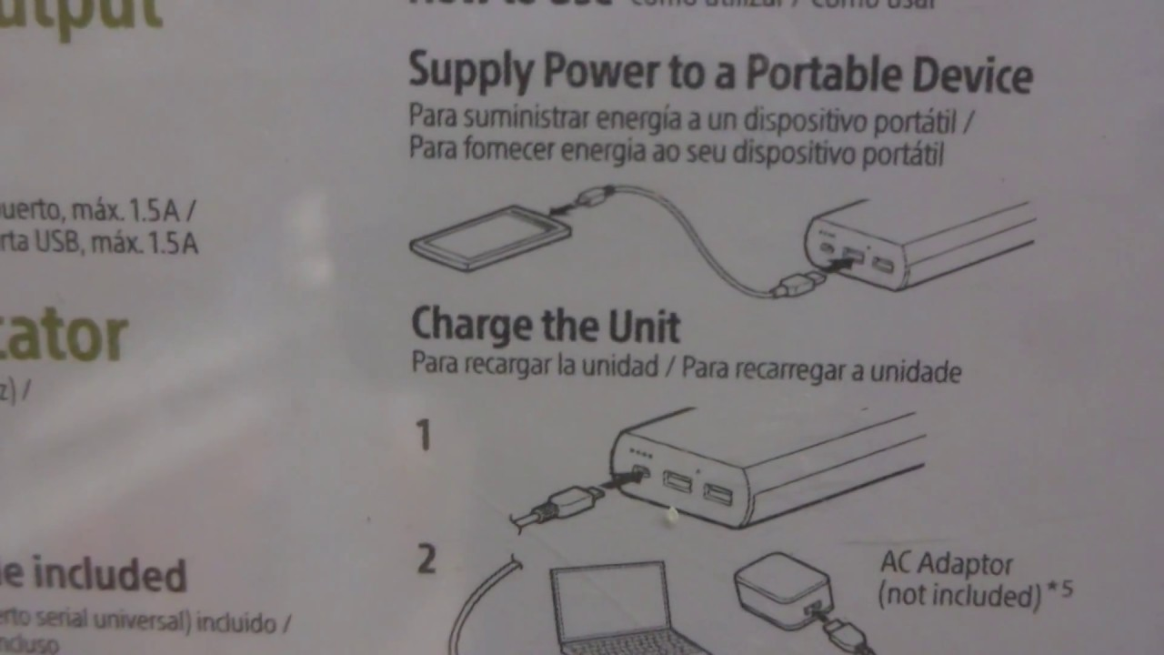 Sony CP-V20 High-capacity Portable USB Charger box video