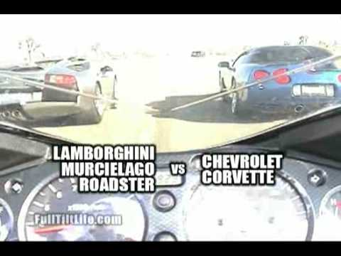 lamborghini murcielago vs c5 corvette roll race youtube. Black Bedroom Furniture Sets. Home Design Ideas