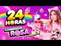 24 HORAS ROSA - COMIENDO y VISTIENDO ROSA!! 🌸 || Bianki Place ♡