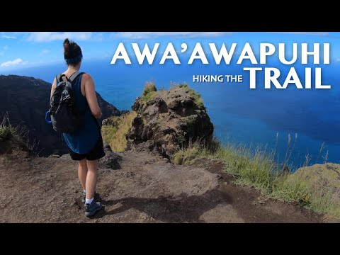 Hiking The Awa'awapuhi Trail In Kauai 4K