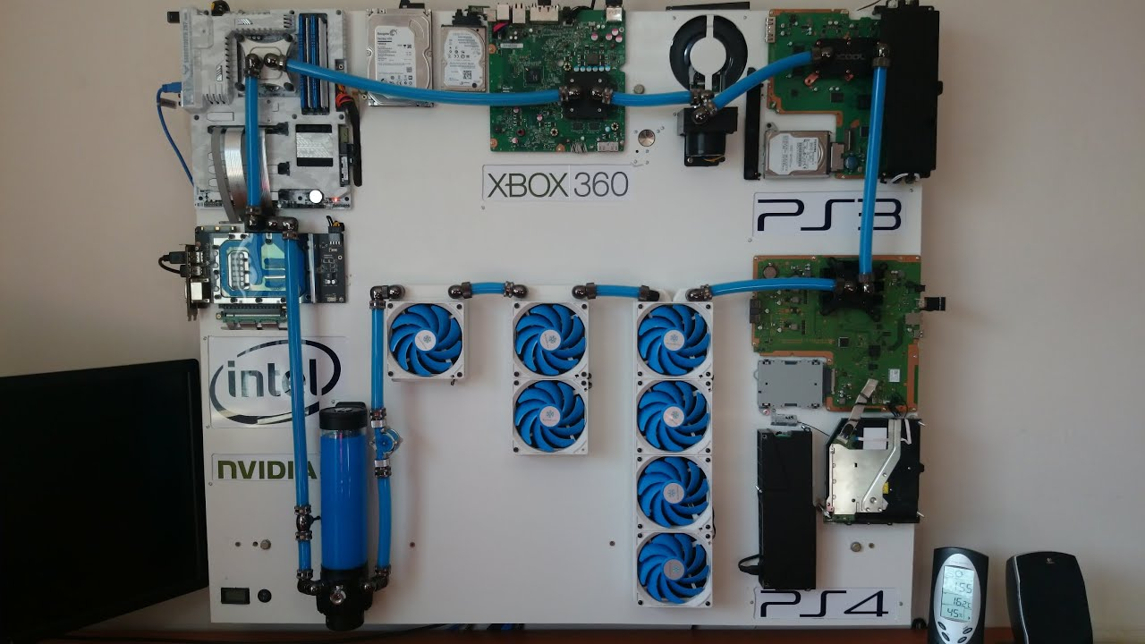 project iceberg the ultimate watercooled gaming wall pc ps4 ps3