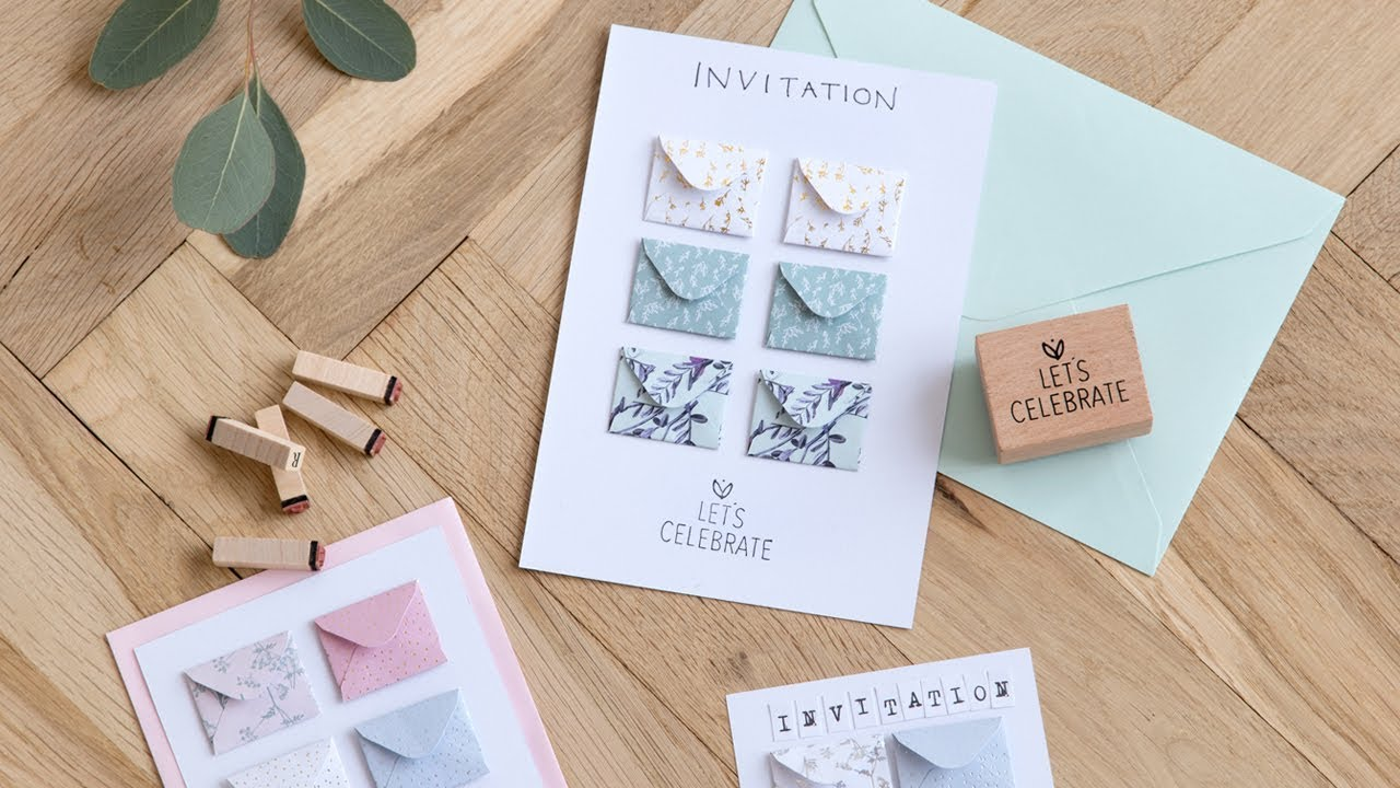 diy make your own party invitations by søstrene grene youtube