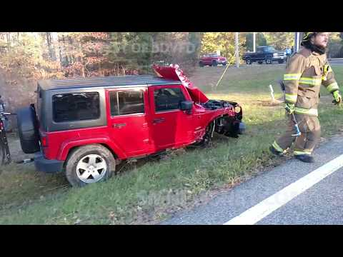 Single Vehicle Car Accident Causes Brush Fire
