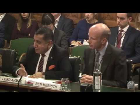 UK Committee Hearing On Territories , Dec 18 2018