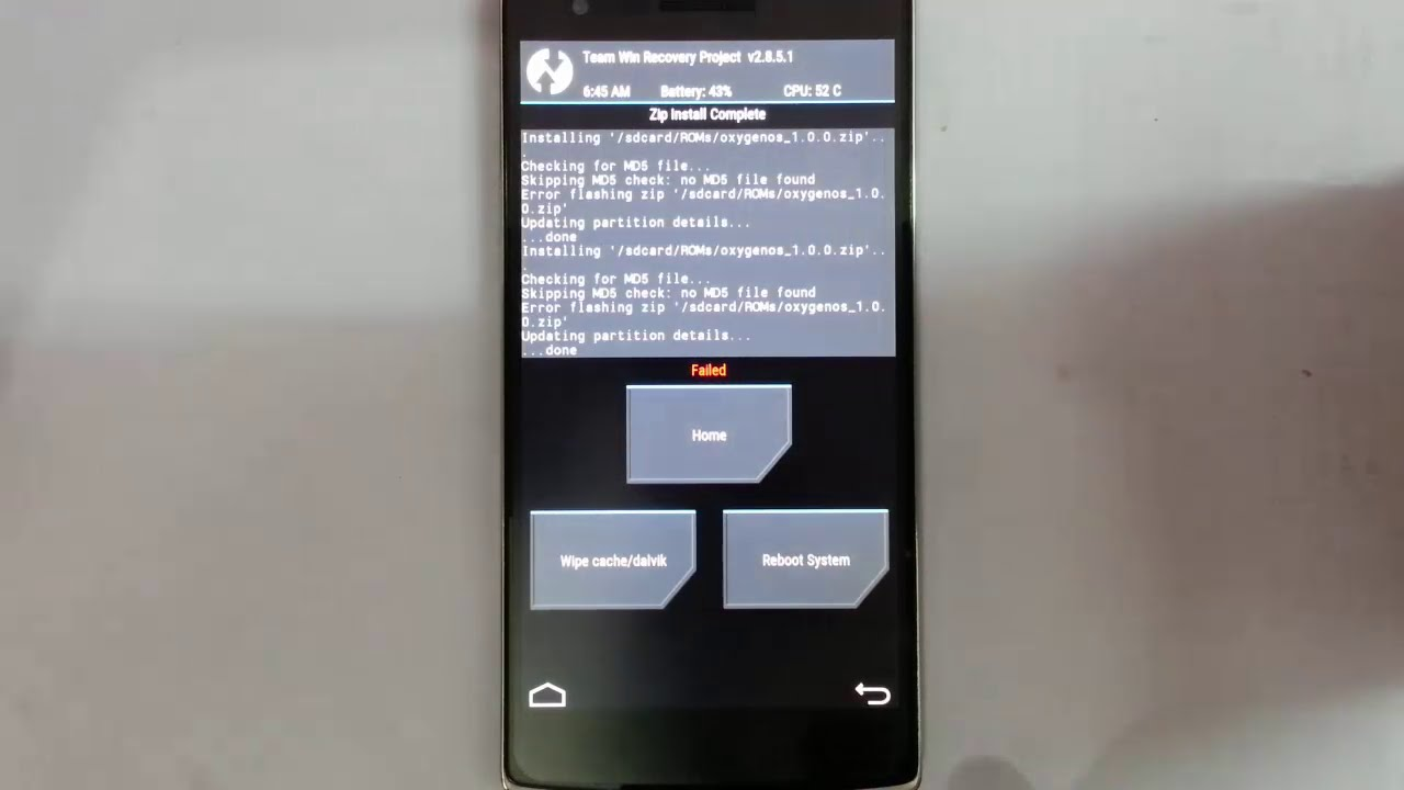 [FIX] No MD5 file found Error while flashing OxygenOS using TWRP