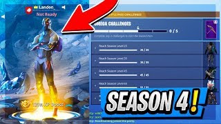 "*NEW* SEASON 4 ""OMEGA"" SKIN GAMEPLAY in Fortnite Battle Royale! (LEVEL 100)"