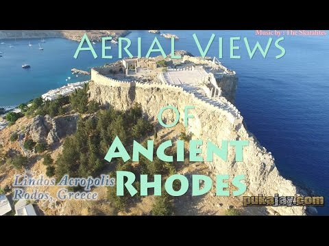 Aerial views of Ancient Rhodes! Acropolis, forts, and new minoan sites