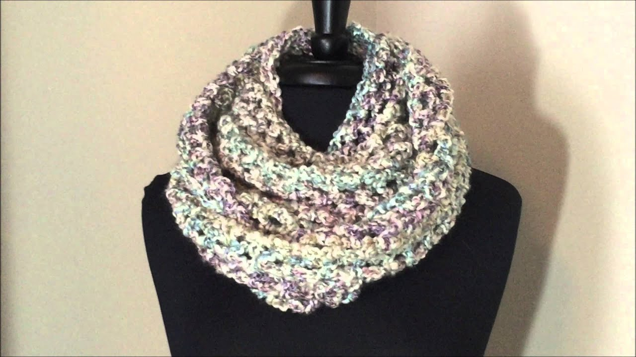 Chunky Cowl With Lion Brand Homespun Yarn Youtube