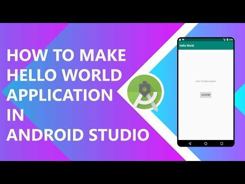 How to make Hello World App in Android Studio 2019.