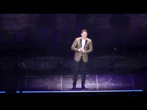 Michael Buble  A Song For You HD without microphone Mannheim, 14 January 2014