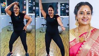 Actress Pragathi Hot Dance | Aranmanai Kili Serial, 96 Gowri, Workout, Vijay Tv | Tamil News
