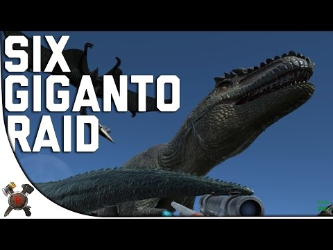 SIX GIGANOTOSAURUS PURGE RAID!  - Ark Survival Evolved PVP Server (Season 4 Part 38)