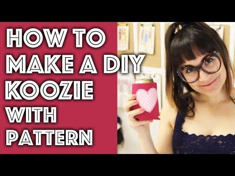 How To Make A DIY Beer Koozie | Sew Anastasia