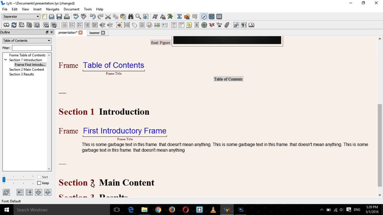 presentation with lyx and beamer complete tutorial part 2 - main, Presentation templates