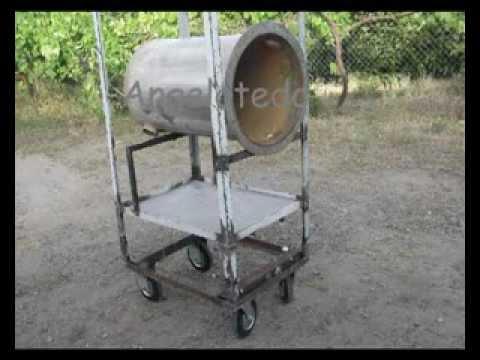 Tambor dep sito cilindro de acero inoxidable para horno de le a sisale youtube - Horno casero de lena ...