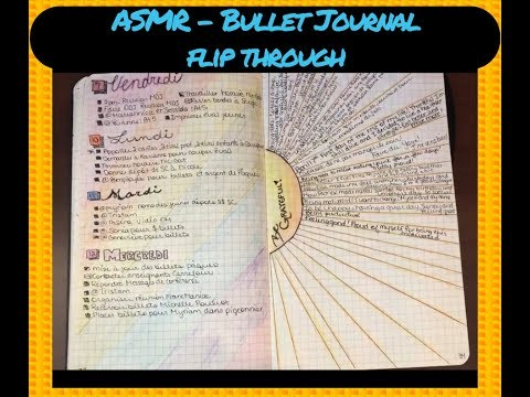ASMR Bullet journal flip through