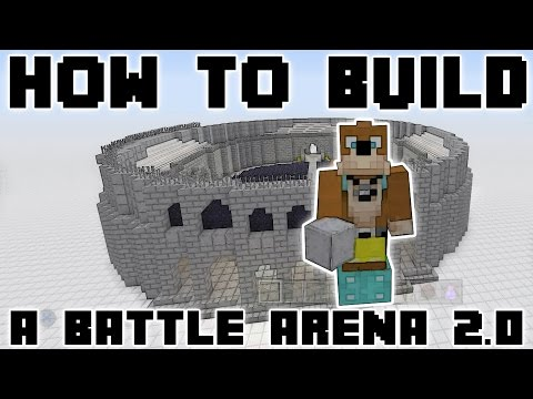 Minecraft : How To Build : A Huge PvP Battle Arena With NO Time Lapse