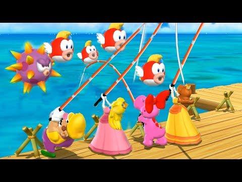 Mario Party 9 Garden Battle - Peach vs Daisy vs Wario vs Birdo| Cartoons Mee