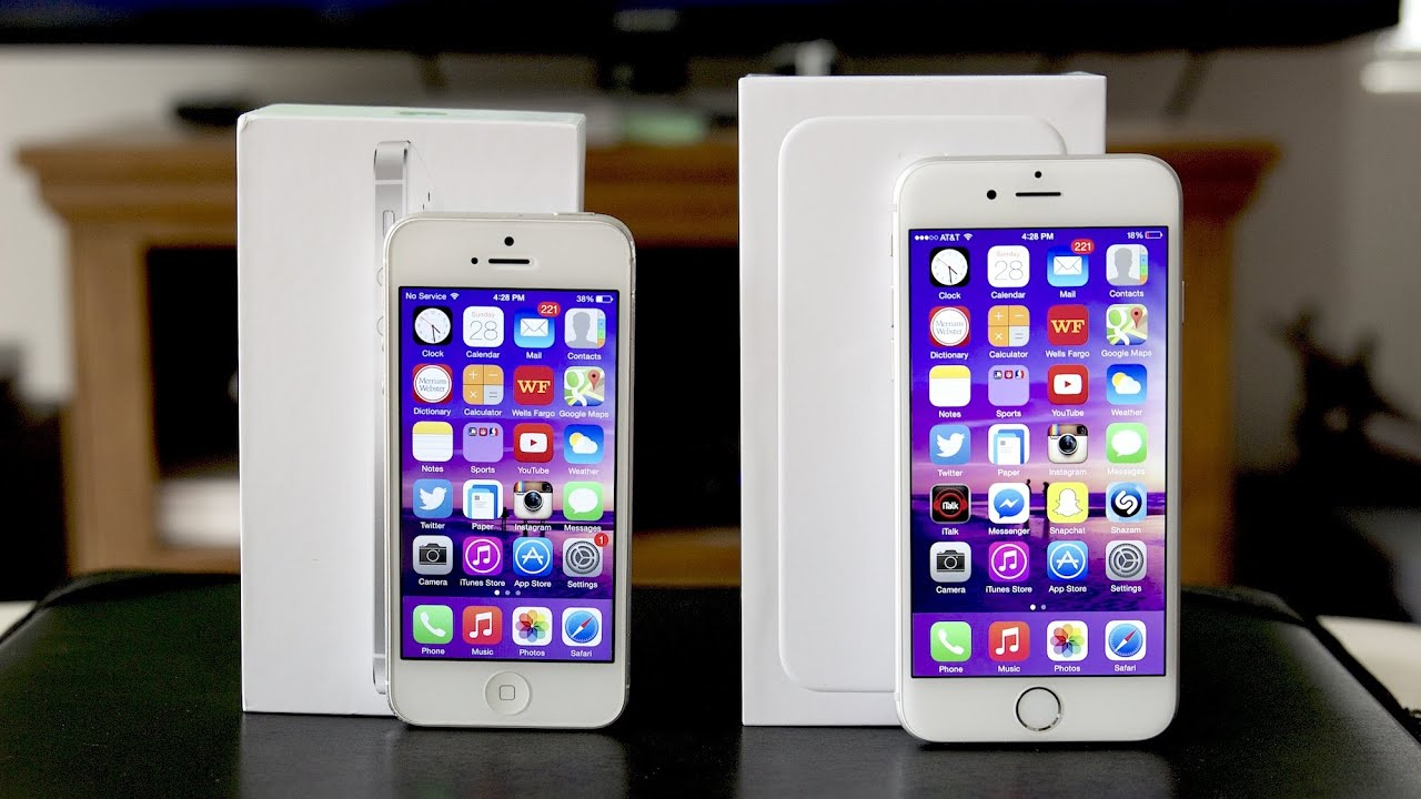 iphone 5 vs iphone 6 comparison youtube