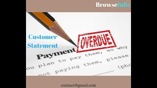 Odoo Customer Statement & Overdue Payments Statement by BrowseInfo