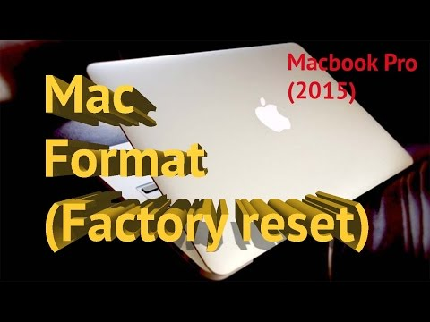 MACBOOK PRO late 2015 format