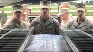 Dignified Transfer of USMC Sgt. Ronald A. Rodriguez at Dover Air Force Base