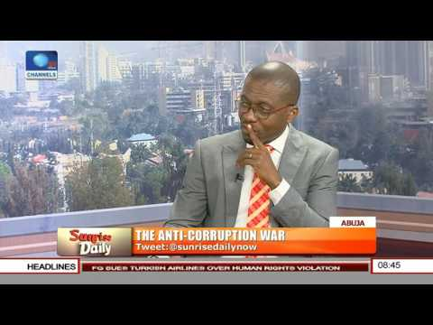Sunrise Daily: Nigeria's Corruption Fight Is On Pages Of Newspapers-- Legal Practitioner Pt 1
