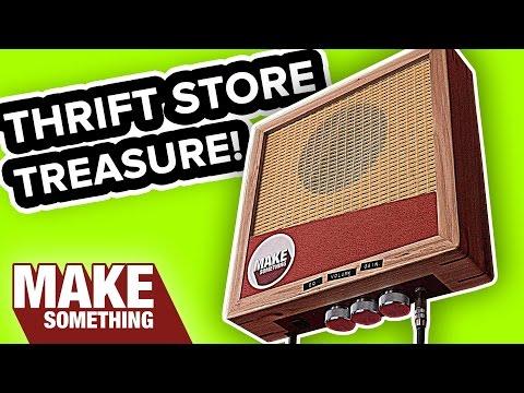 Trash to Treasure: Make a Wall Hanging Guitar Amp | DIY Upcycle