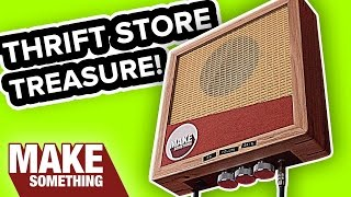 Trash to Treasure: Make a Wall Hanging Guitar Amp | DIY Upcycle