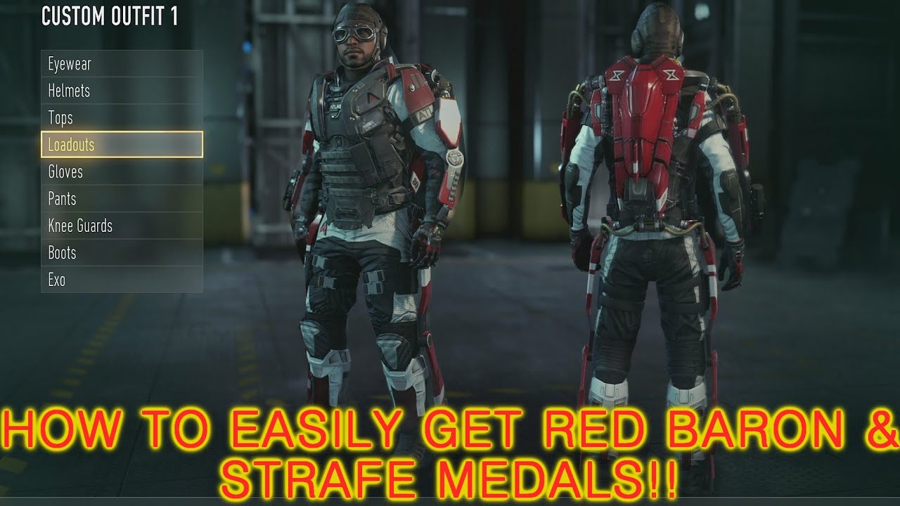 Cod advance warfare how to get the red baron exo amp easy strafe medals