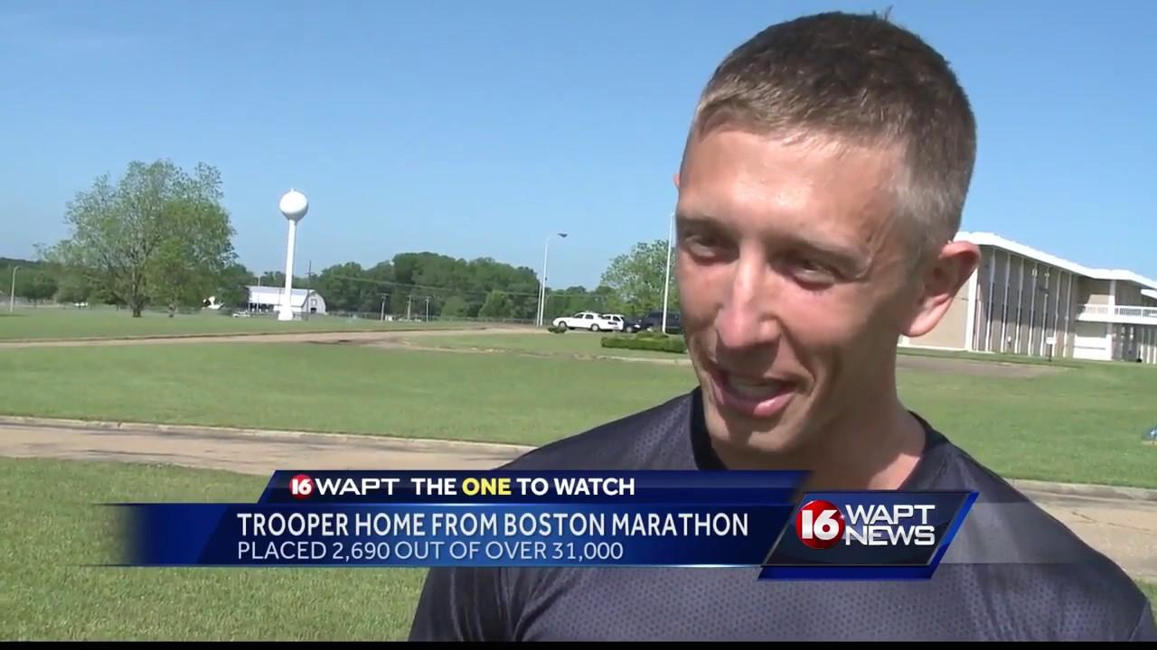 Trooper competes in Boston Marathon