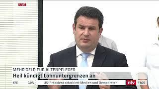 Live: Hubertus Heil spricht über die Löhne in der Altenpflege