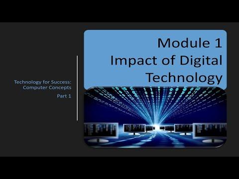 Computer Concepts - Module 1: Impact Of Technology Part 1 (4K)
