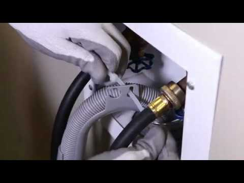 Washing machine water hose hookups