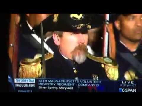 54th Massachusetts Company B Obama Parade