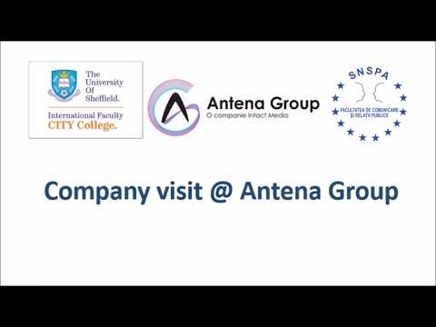 Company visit at Antena Media Group by masters students in Bucharest