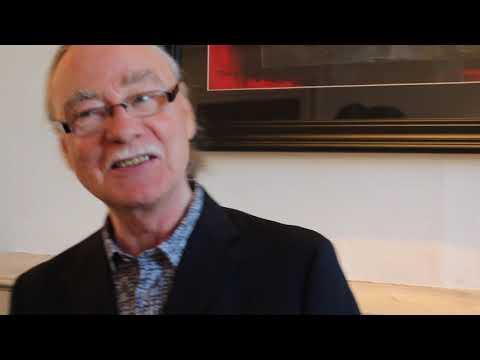 Eddie  Cahill pre exhibition opening chat  @ Origin Gallery, Dublin.