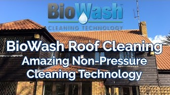 Roof Cleaning & Moss Removal without Pressure Washing- BIOWASH Cleaning Technology