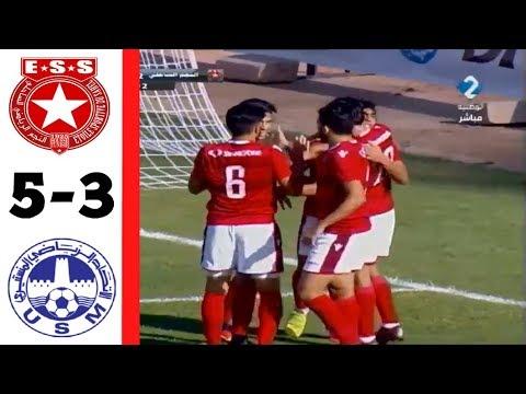 اهداف مباراة النجم الساحلي والاتحاد المنستيري 5-3 الدوري التونسي 🔥 (خماسية ساحلية !!) ESS VS USMO