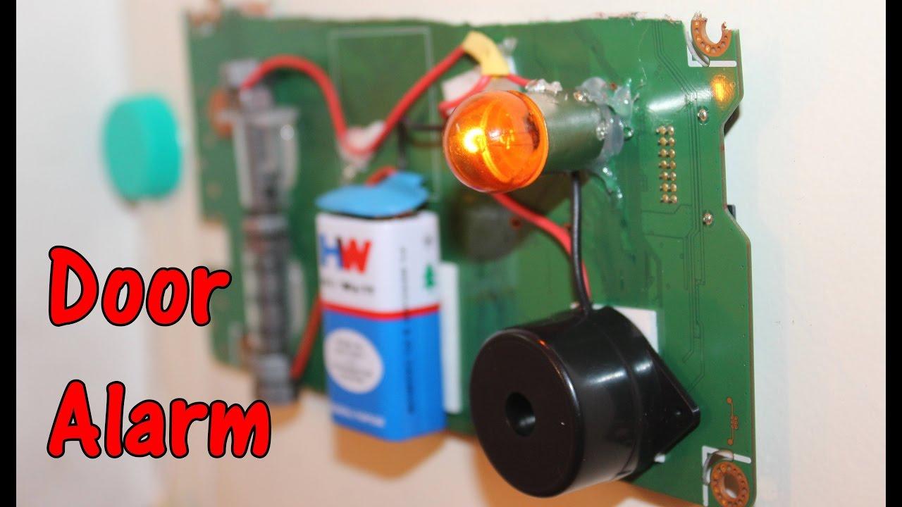 How to make a Door Alarm using Bike Buzzer - Theft alert Alarm - YouTube & How to make a Door Alarm using Bike Buzzer - Theft alert Alarm ... Pezcame.Com