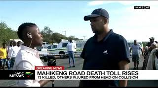 Mahikeng road death toll rises to 13