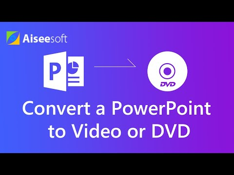 How to Convert a PowerPoint to Video or DVD