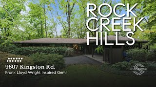 9607 Kingston Rd., Kensington, MD 20895 - Rock Creek Hills, Frank Lloyd Wright Inspired Gem!