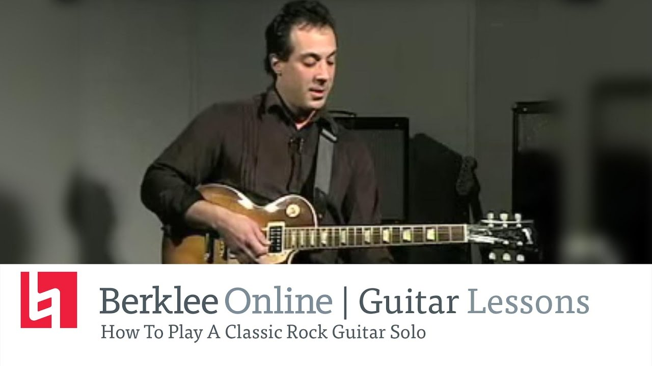 how to play a classic rock guitar solo youtube