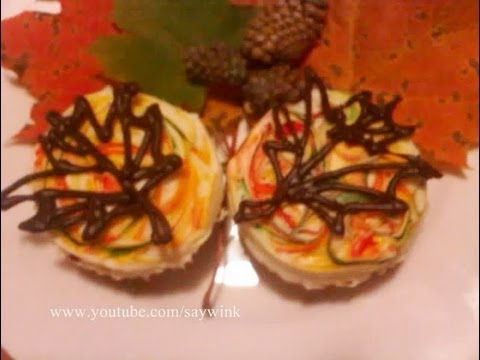 Cupcake Decorating Tutorial Fall Maple Leaves Youtube