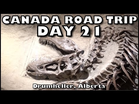 Canada Camping Road Trip - Day 21 -  Royal Tyrrell Museum in Drumheller AB