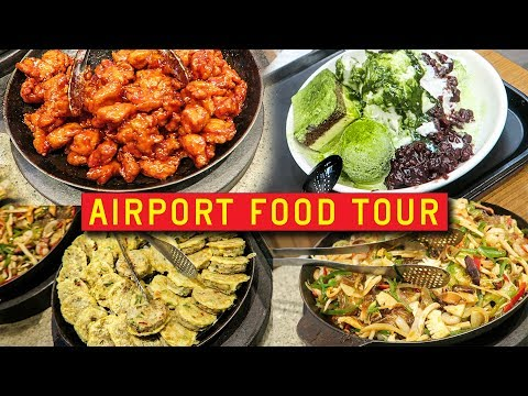 AIRPORT FOOD TOUR in South Korea 🇰🇷✈️ Incheon International